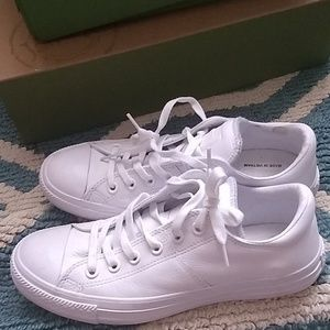 Womens leather white converse sneakers